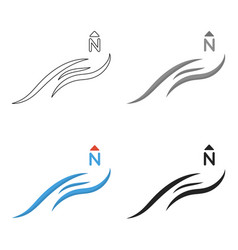 northern wind icon in cartoon style isolated on vector image