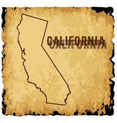 Old california map vector