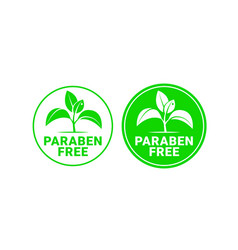 paraben free sign or stamp symbol vector image