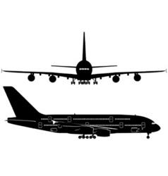 Passenger jetliner vector