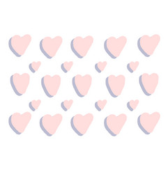 pink hearts background violet hearts texture love vector image