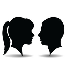 profile silhouettes vector image