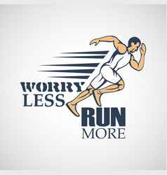 run creative sport running motivation vector image