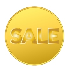 Sale coin gold vector