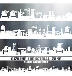 Set of industrial skyline vector image