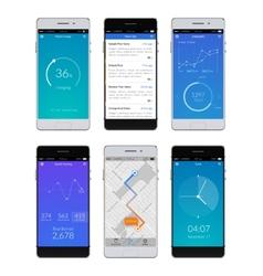 Smartphone Ui Set vector image