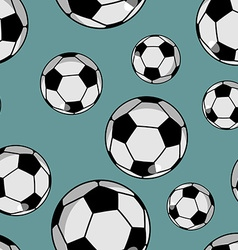 Soccer ball seamless pattern Sports accessory vector
