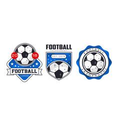 soccer or football badges or labels set vector image