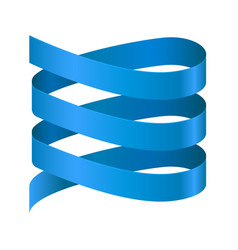 Spiral blue ribbon vector