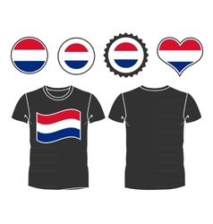 t-shirt with the flag Netherlands vector image