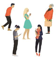 The five people men and women vector