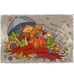 To the autumn season of doodles vector