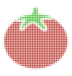 tomato vegetable halftone icon vector image
