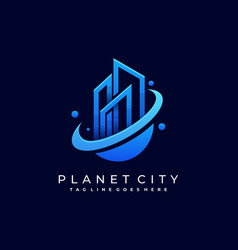 town planet template vector image