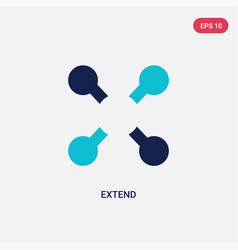 Two color extend icon from geometry concept vector