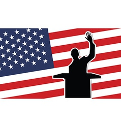USA president black silhouette vector image