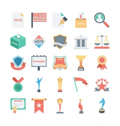 Vote and Rewards Colored Icons 4 vector