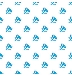 Wave splash pattern seamless vector