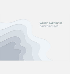 white papercut abstract background vector image