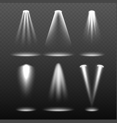 White stage lights environment bright and vector