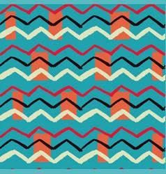 zigzag rectangle background vector image