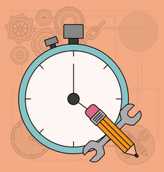background with time planning for development of vector image vector image