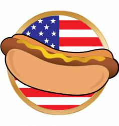hot dog American flag vector image