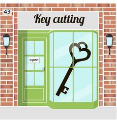 key cutting key cutting service locksmith vector image vector image