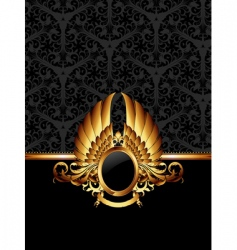 ornate frame with golden label vector image