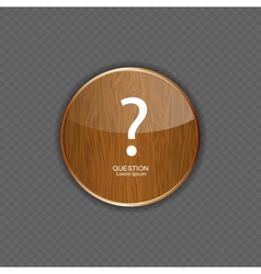 Question wood application icons vector image
