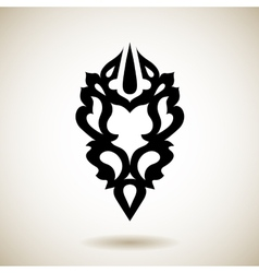 Tribal reflected black tattoo vector image vector image