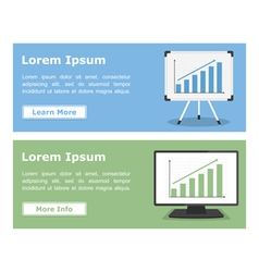 Banners with Graphs vector image