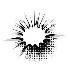 Blank template comic speech star bubble burst vector image vector image