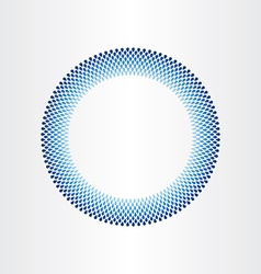 drops of water in circle rain blue background vector image vector image