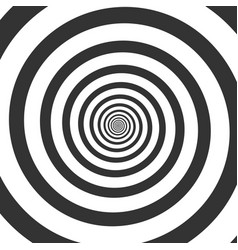 hypnotic spiral psychedelic swirl vector image