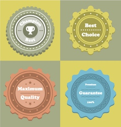 Labels5 vector image