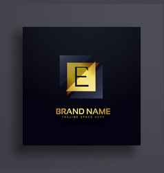 premium letter e concept logo design vector image