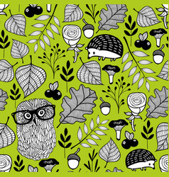 summer time seamless pattern with wild birds and vector image vector image
