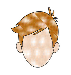 Young boy student avatar people head vector