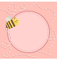 Bee Path Note Pink vector image