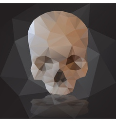 black human scary skull from triangles eps10 vector image