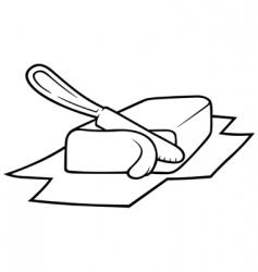 Knife cutting butter vector