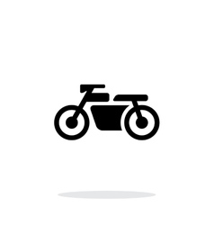Motorbike simple icon on white background vector image