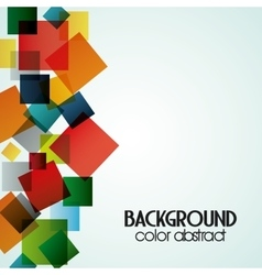 Multicolored background with abstract shapes vector image vector image
