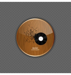 Music wood application icons vector image