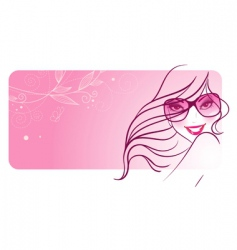 women in sunglasses banners vector image