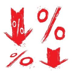 Discount symbols vector image vector image