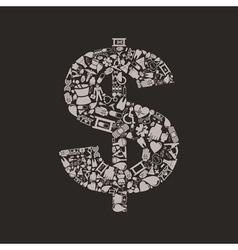 Medicine dollar vector image vector image