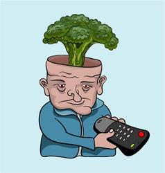 TV addict concept vector image vector image