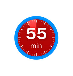 55 minutes stopwatch icon stopwatch vector